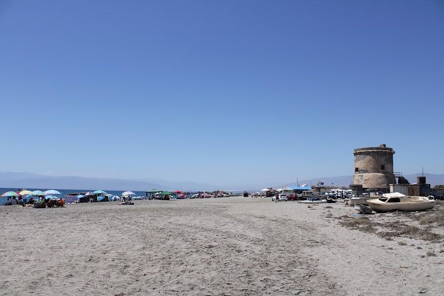 Playa de la Torre de San Miguel, en el Cabo de Gata.