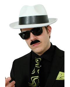 Gangsterhatt, vit