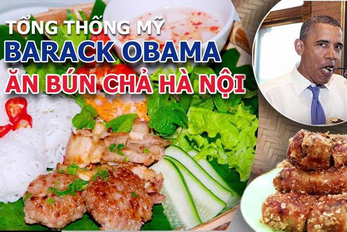 Tổng thống obama ăn bún chả hà nội