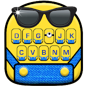 Cartoon Yellow Me Keyboard Theme