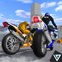 Miami Police Bike - Gangster Chase Simulator icon