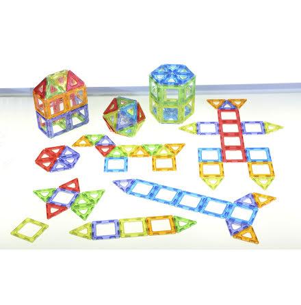 Polydron Magnetic - Genomskinliga 64 delar  - 7763-335-8