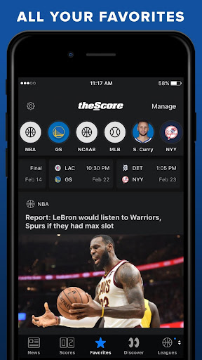 theScore: Live Sports News, Scores, Stats & Videos for PC