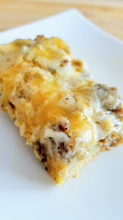 Biscuit and Sausage Gravy Egg and Cheese Casserole