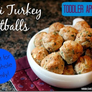 Mini Turkey Apple Meatballs (Toddler Approved!).