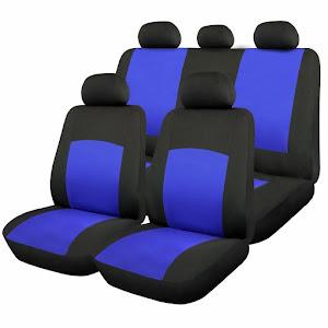 Huse scaune auto Oxford 9 bucati, Albastru