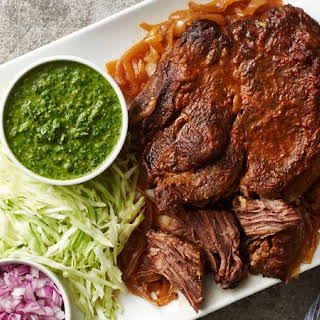 Slow-Cooker Pot Roast with Chimichurri.