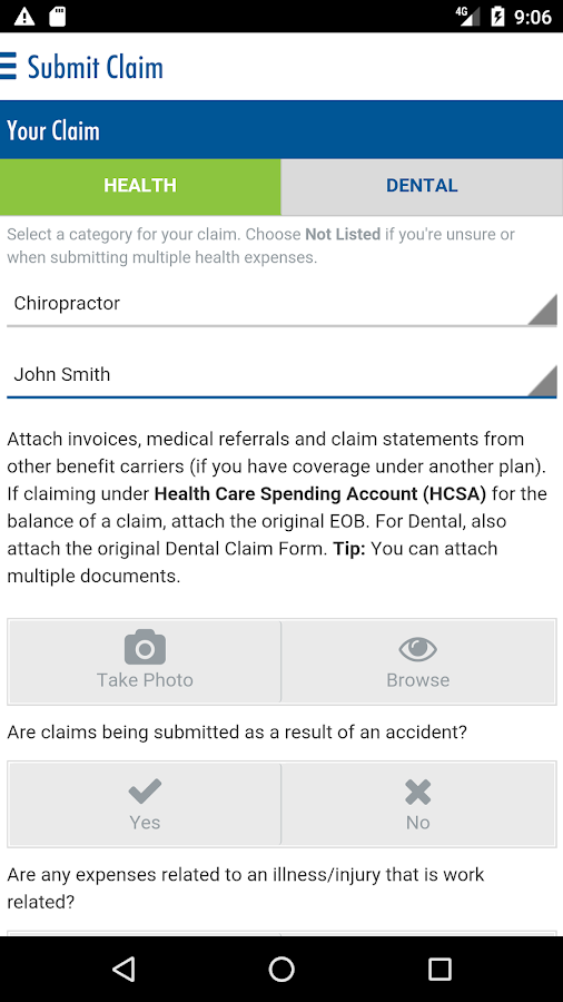 Equitable EZClaim Mobile- screenshot