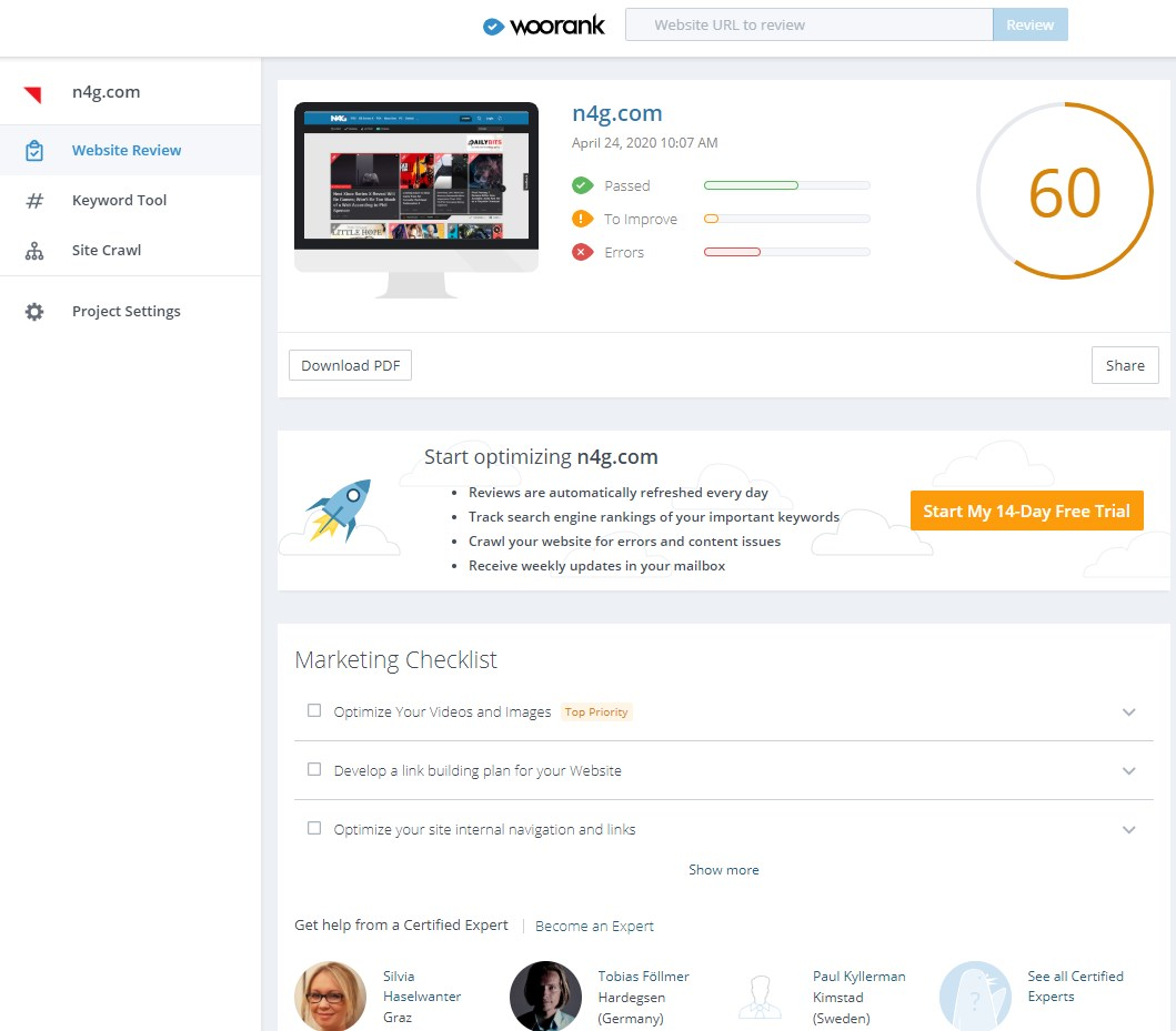 11 Best Website SEO Checker Tools 7
