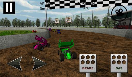 Sprint Car Dirt Track Game