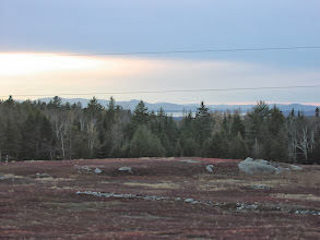 Photo: Penobscot Bay and the Camden Hills in the distance.