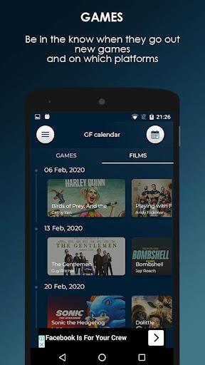 GF Calendar - Games and Films ss2