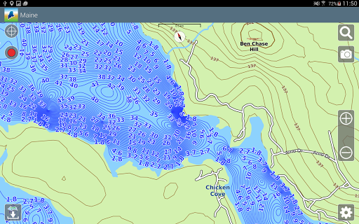 Map Of Maine Lakes.Aqua Map Maine Lakes Gps App Report On Mobile Action App Store