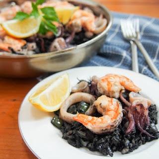Spanish Black Rice Paella (arroz Negro/arròs Negre).