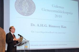Photo: Toespraak dr. Alexander Rinnooy Kan tijdens de uitreiking van de Galenus Geneesmiddelenprijs 2010  © Bart Versteeg