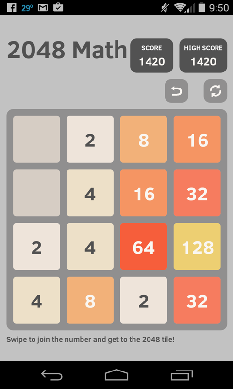 2048 Math- screenshot