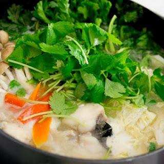 Monkfish Miso Nabe.