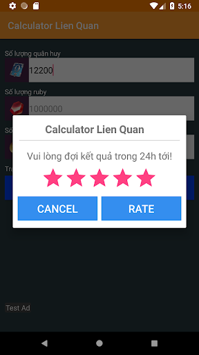 Quan huy Lien quan mobile calculator for PC