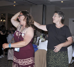 Photo: Helen and VFP office manager Virginia Druhe take a spin on the dance floor