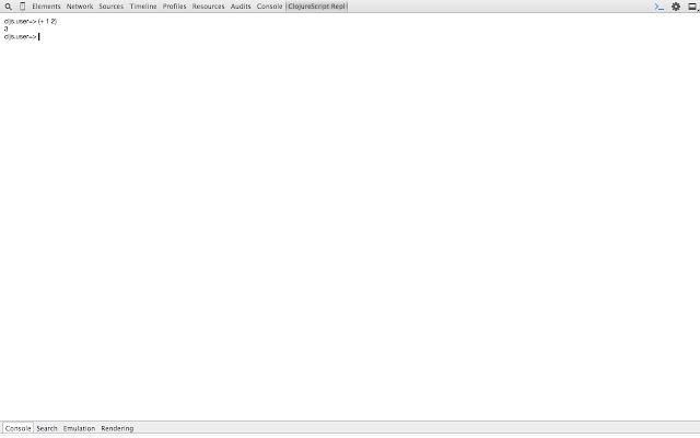 ClojureScript REPL (Self Hosting)