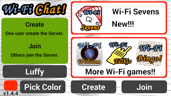 Wi-Fi Chat - náhled