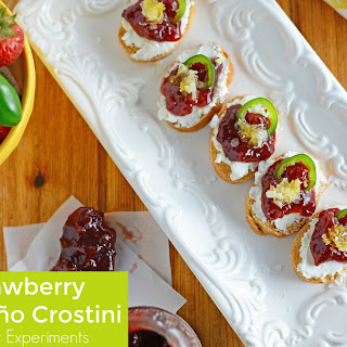 Strawberry Jalapeno Crostini.