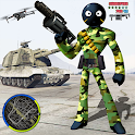 Army US Stickman Rope Hero Gangster OffRoad icon