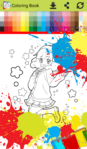Princess anime Coloring Books for Kids Free Games 1.0 screenshots 13