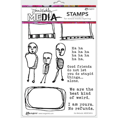 Dina Wakley Media Cling Stamps 6X9 - No Refunds