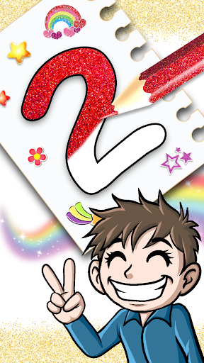 Glitter Number and letters coloring Book for kids screenshot 5