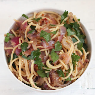 Garlicky Caramelized Onion Pasta.