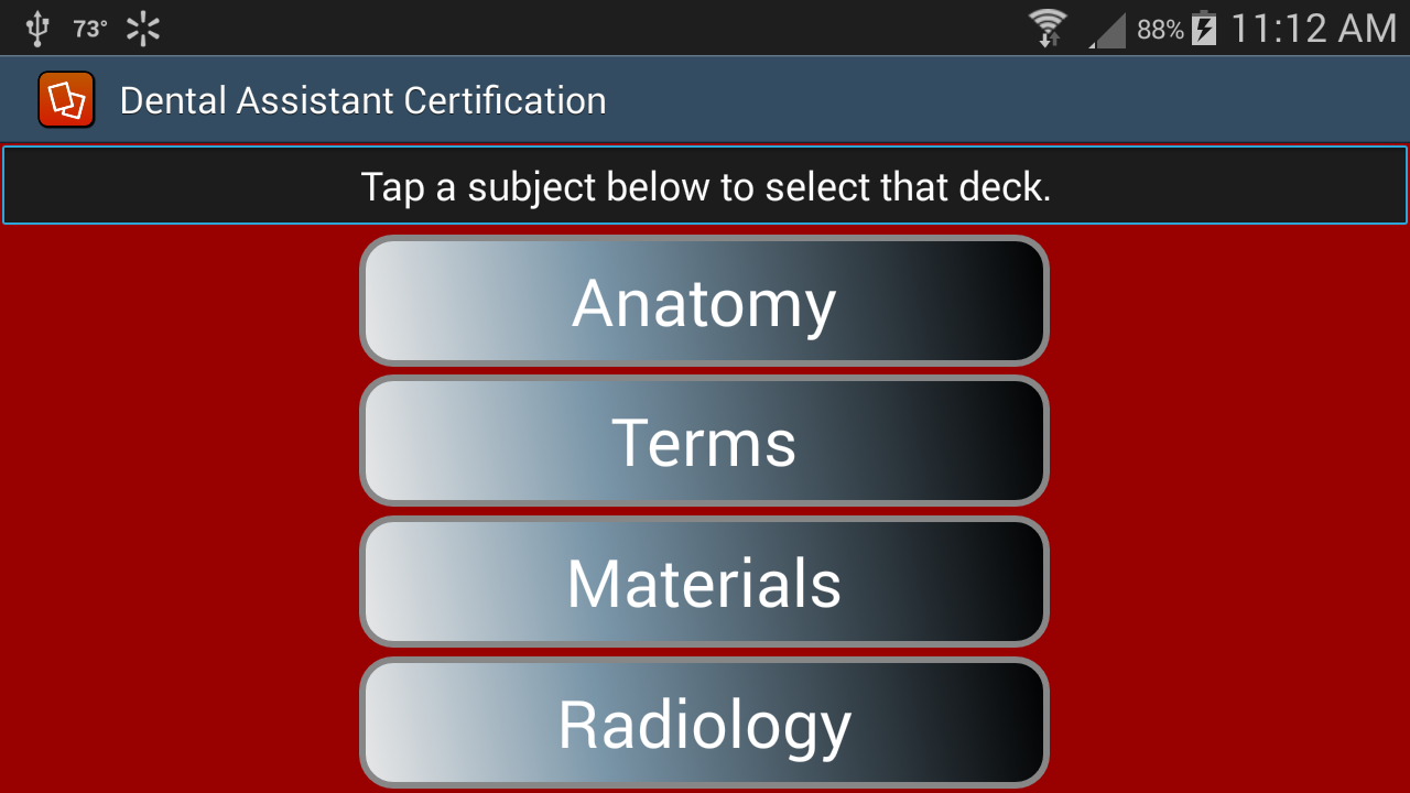 Dental assistant certification android apps on google play dental assistant certification screenshot xflitez Gallery