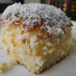 Coconut Drench Cake.