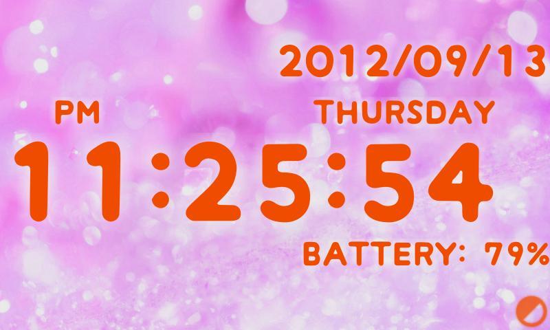 Скриншот Симпатичные Lite батареи часы