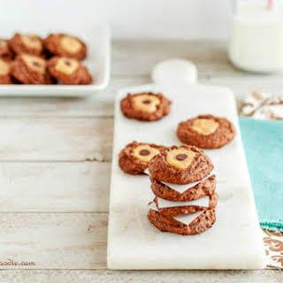 Double Chocolate Buckeye Blossom Cookies.