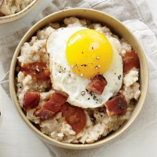 Pancetta, Fried Egg, and Red-Eye Gravy Oatmeal