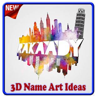 3D Name Art Ideas - náhled