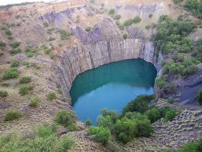 Photo: The pit at Kimberly diamond mine