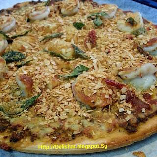 Cereal Prawn Pizza Recipe
