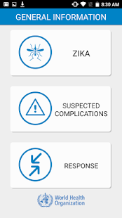WHO Zika App- screenshot thumbnail