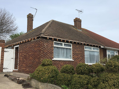 roof tiles installed on a bungalow home