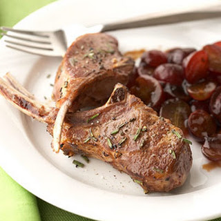 Lamb Chops with Grape-Balsamic Sauce