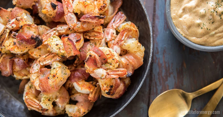 Bacon Wrapped Shrimp with Remoulade Sauce Recipe