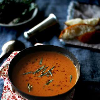Tomato Soup with Fresh Tarragon.