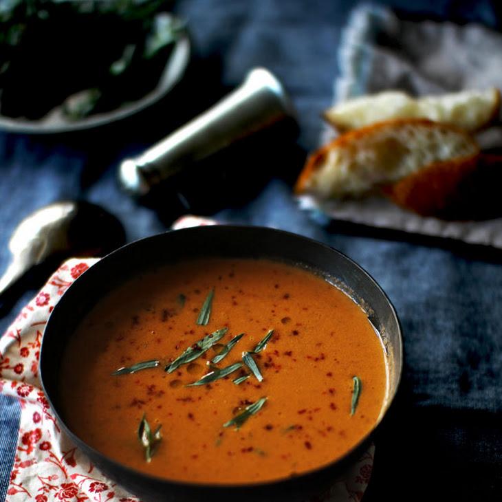 Tomato Soup with Fresh Tarragon Recipe
