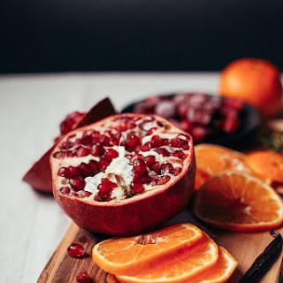 Mulled Pomegranate Cider With Vanilla + Rosemary