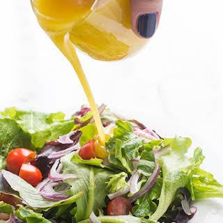Honey Mustard Vinaigrette Salad Dressing.
