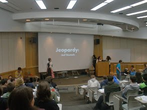 Photo: And now, a game of Jeopardy on the subject of German fairy tales! May the best school win!