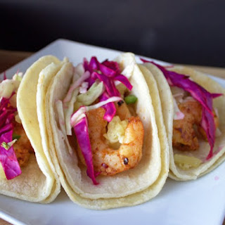 Thai Chili Shrimp Tacos with Pineapple Salsa and Cabbage Slaw