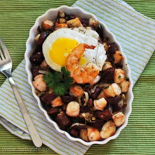 Shrimp and Sweet Potato Hash